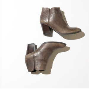 FRANCO SARTO leather brown booties SZ 7.5M